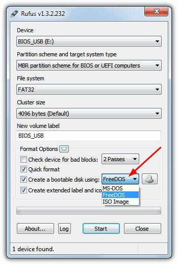 Firmware afudos  Flashing BIOS: step by step instructions