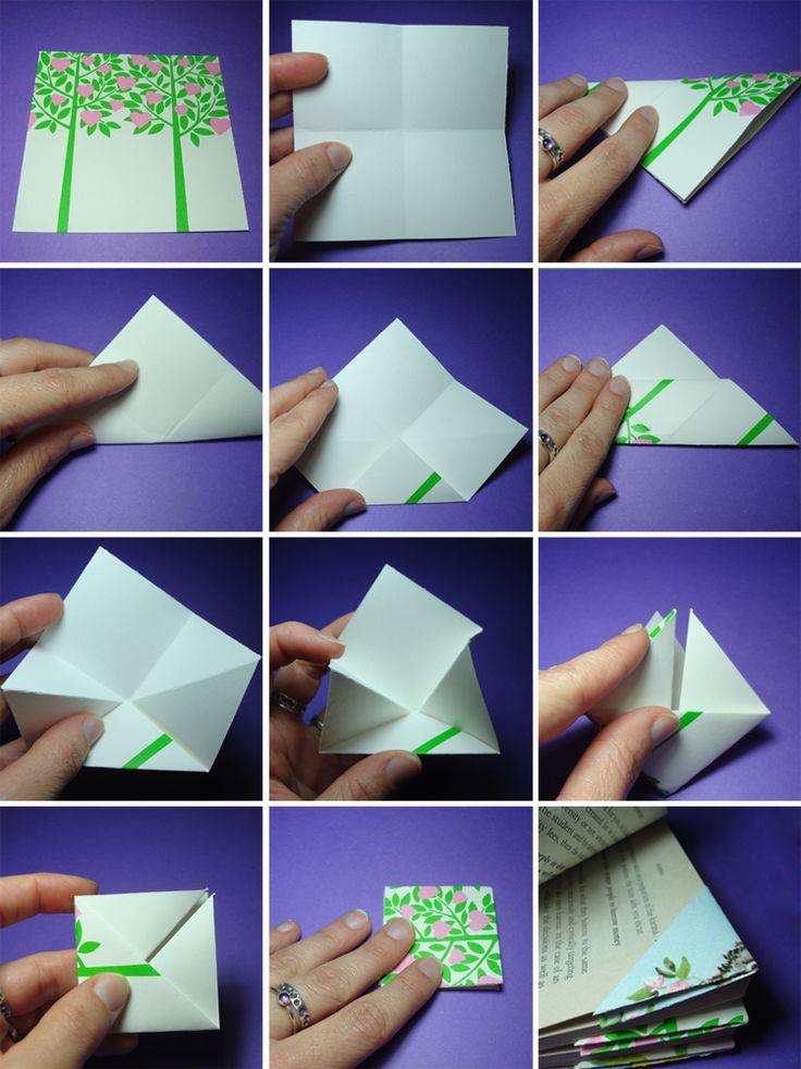 Закладки своими руками для книги из бумаги своими руками 100