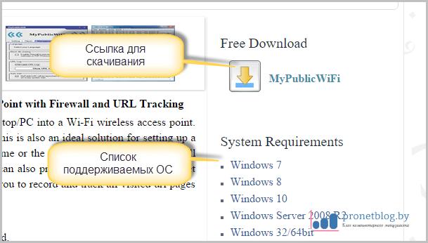 скачать раздатчик wifi на ноутбуке бесплатно на русском xp