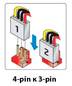 3 pin cooler connector  LED connection